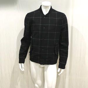 Allsaints Men's Black Irvine Wool Bomber Jacket